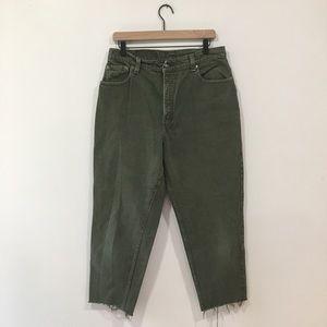 Vintage Levi's Plus Size Green 551 Cutoff Jeans